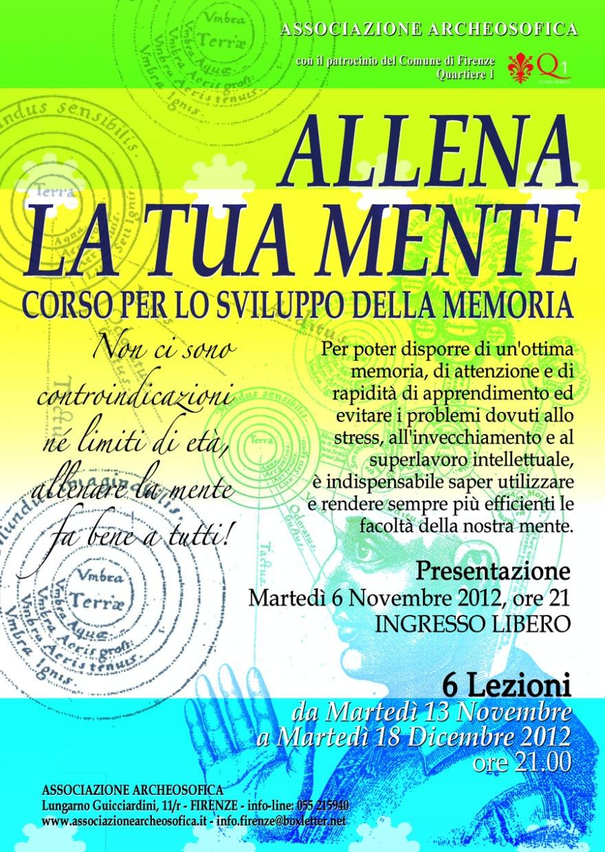 Corso di Memoria a Firenze