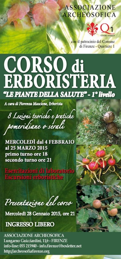 28 Gennaio 2015 - Erboristeria - nuovo Corso di 1° livello a Firenze (2/3)