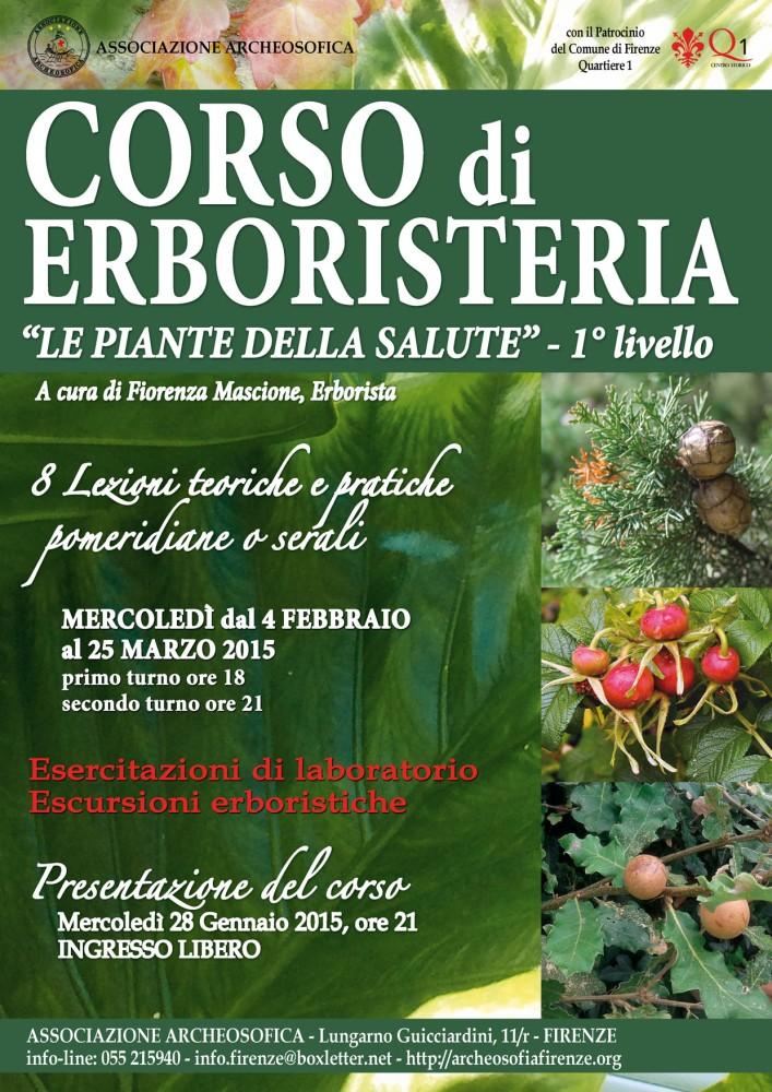 28 Gennaio 2015 - Erboristeria - nuovo Corso di 1° livello a Firenze (1/3)