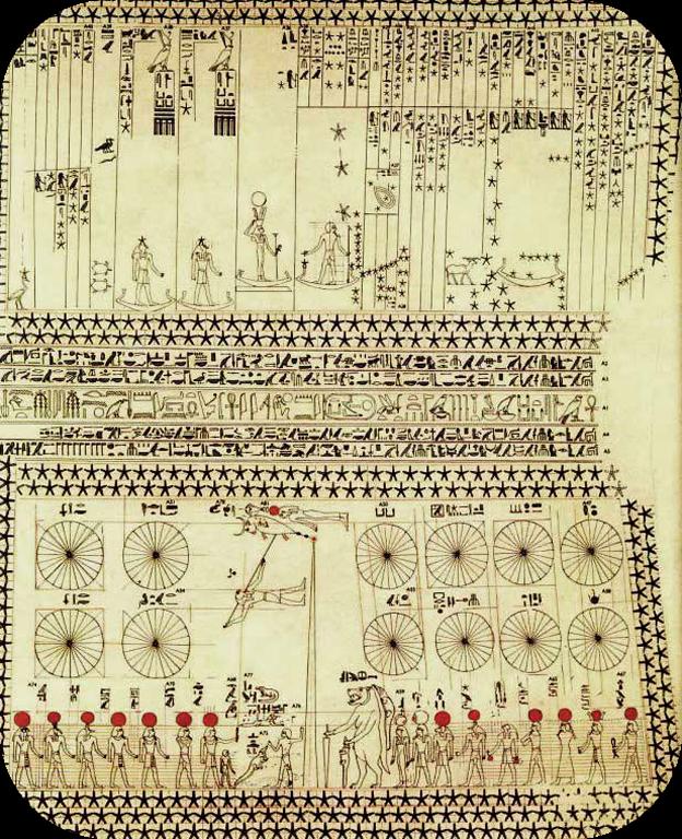 Soffitto astronomico della tomba di Senenmut, Deir el-Bahari, Tebe