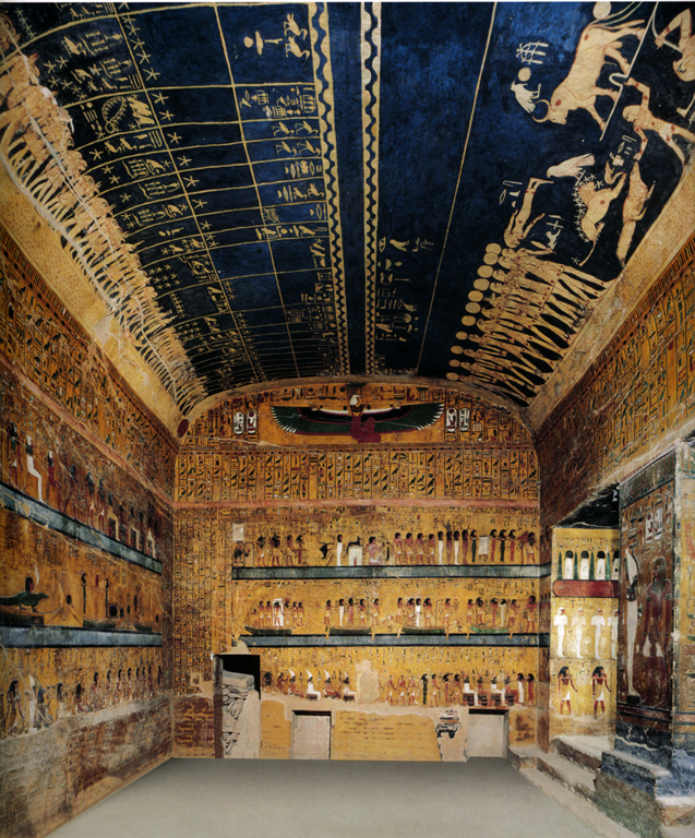 Soffitto astronomico della tomba di Seti I, Valle dei Re, Tebe.